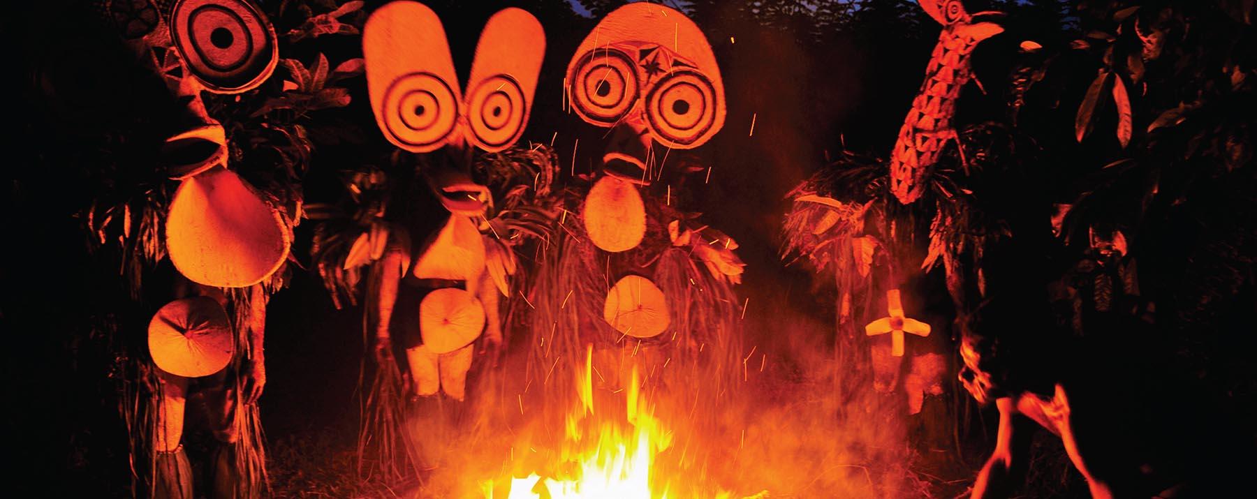 Baining Fire dancers