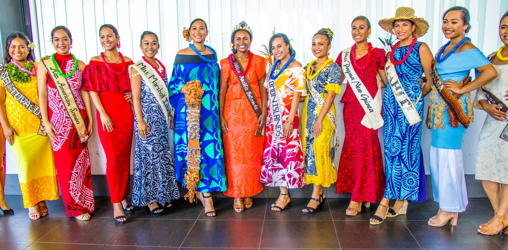 2019 Miss Pacific Islands Pageant Contestants at Loloata Island Resort