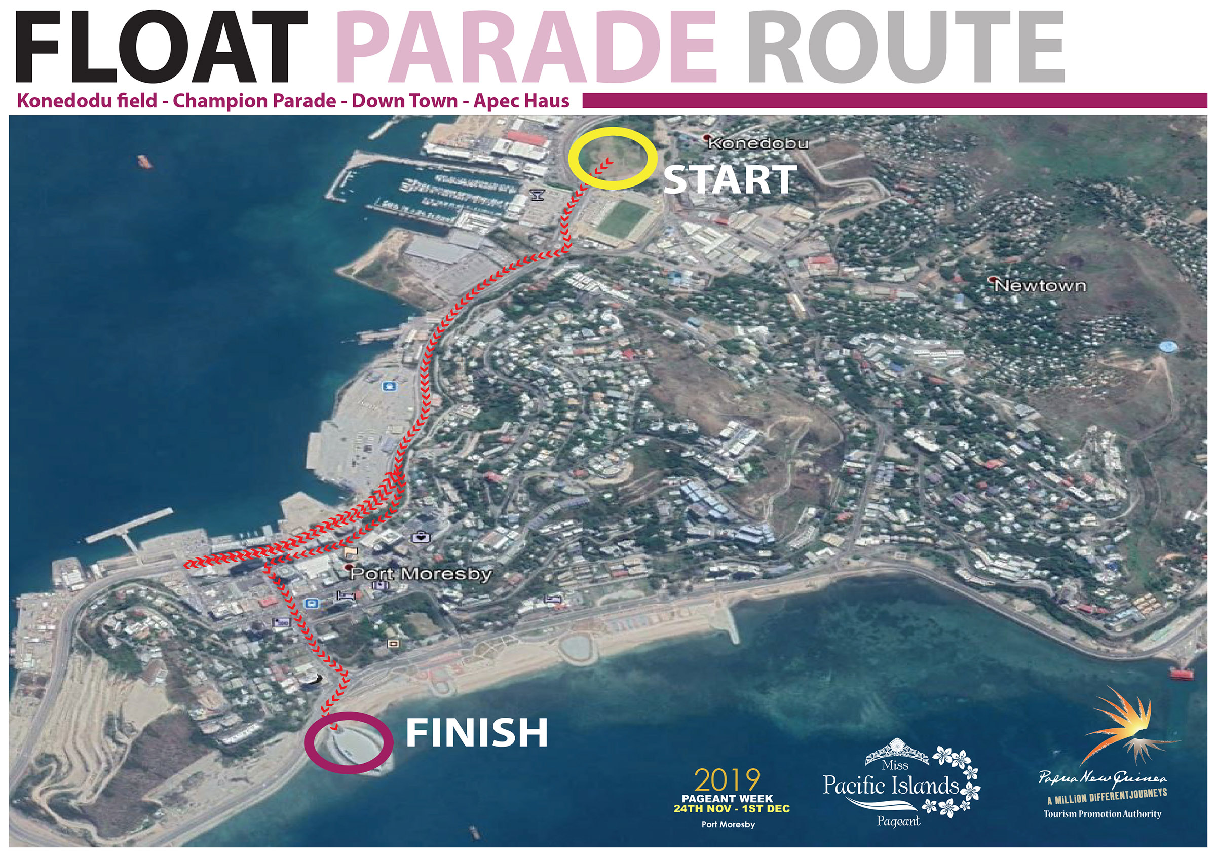 2019 Miss Pacific Islands Pageant Float Parade Route