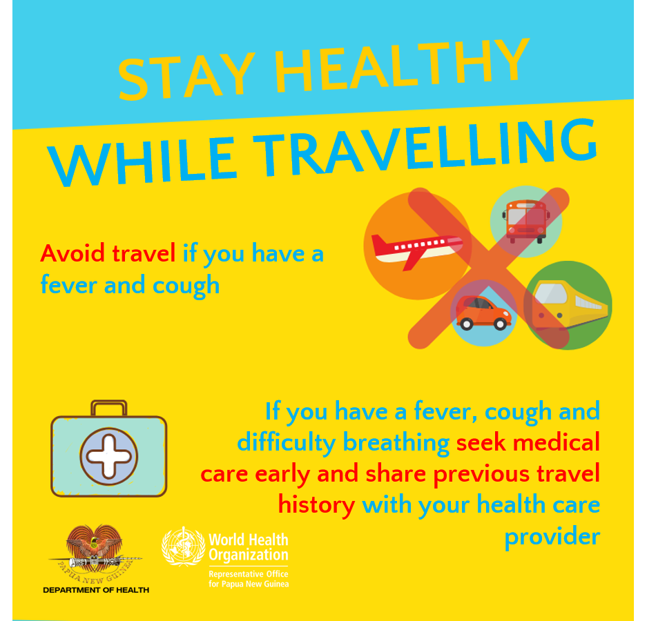COVID-19 While Traveling Info from Department of Health