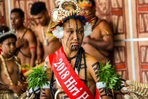 Central Dancer during the launch of the Hiri Moale Festival