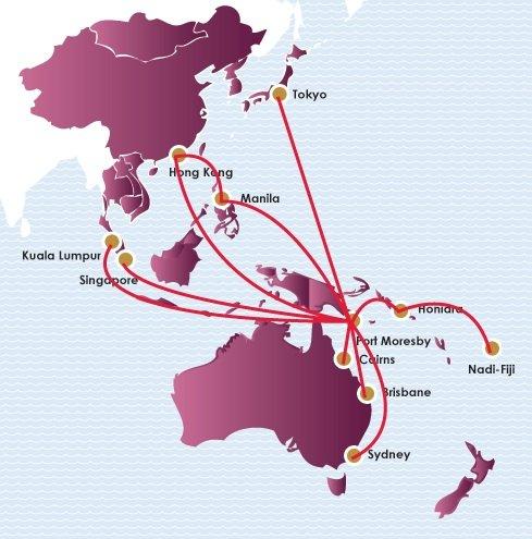 Air Niugini International Routes