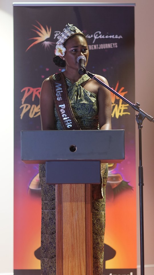 Miss Pacific Islands Leoshina Kariha