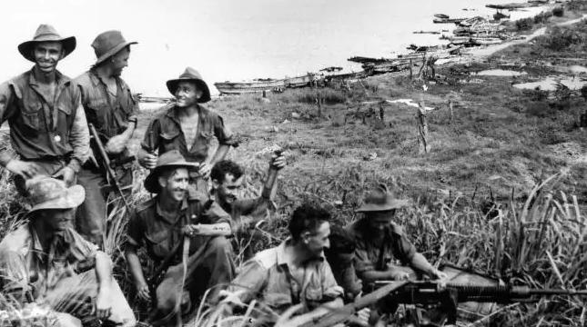 WWII Australian soldiers in Wewak, East Sepik Province, 1942.