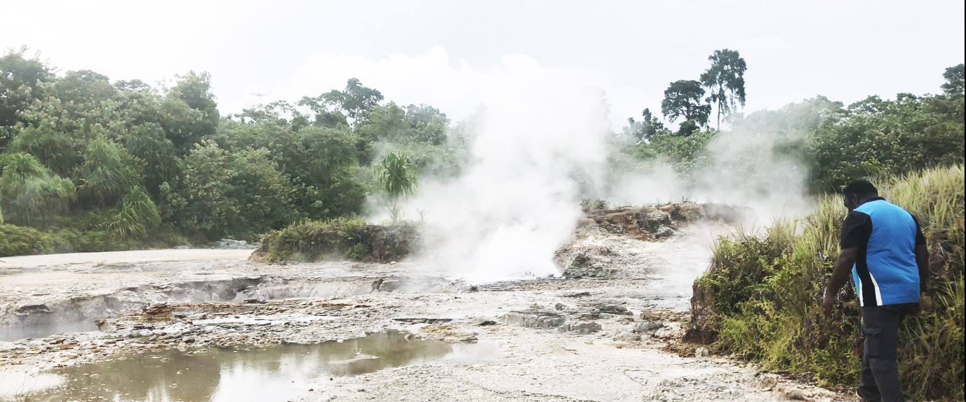 Pokili Sulphur Ponds in West New Britain Province