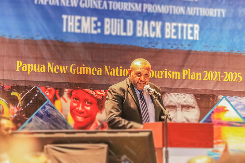 Mr Eric Mossman Uvovo, CEO of the Tourism Promotion Authority