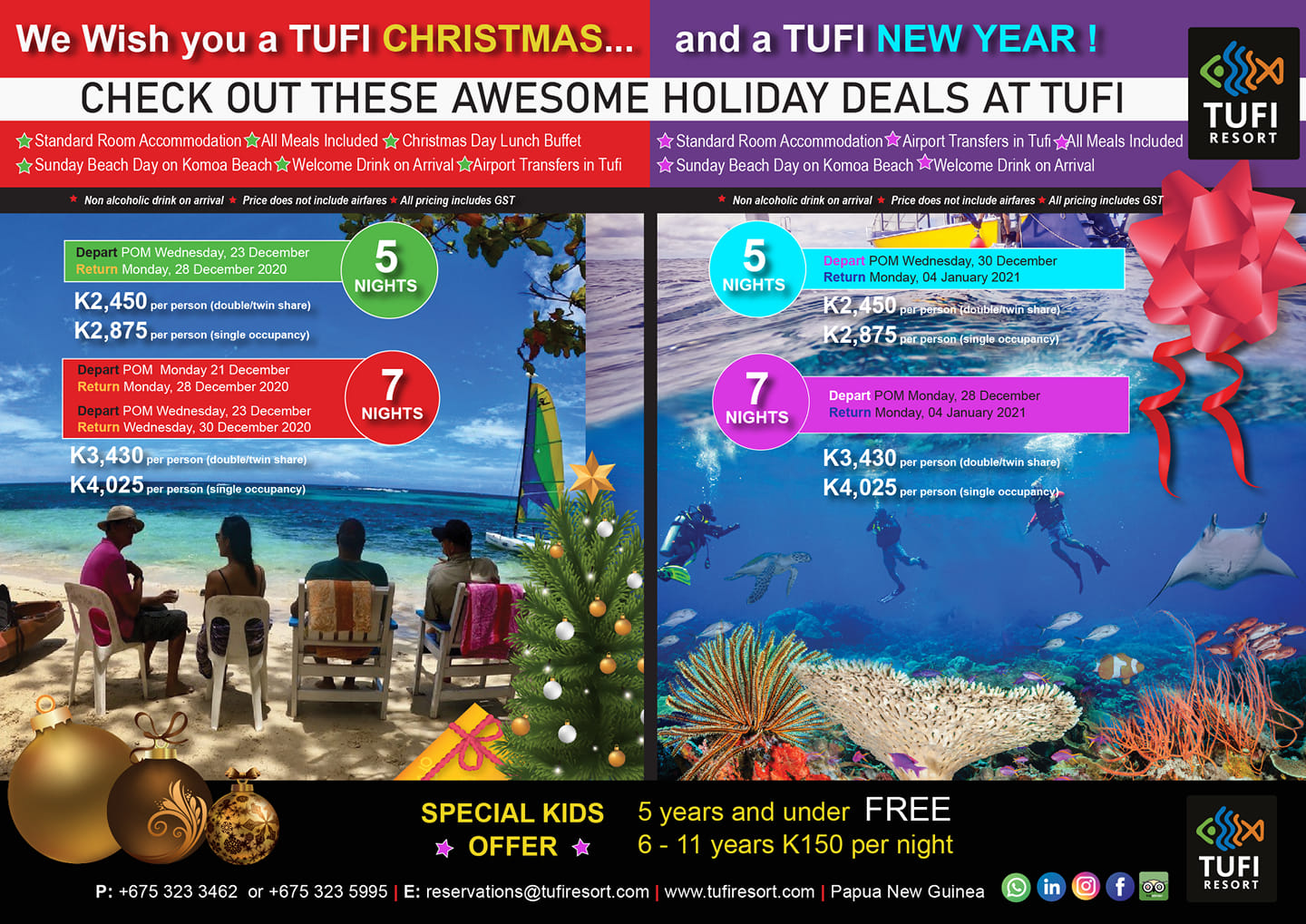 Tufi Christmas and New Year