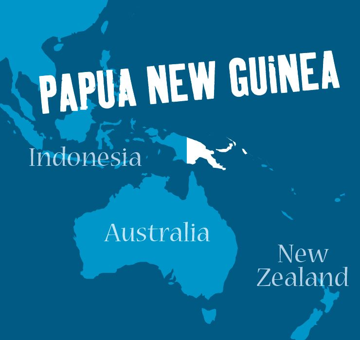 Papua New Guinea shares a sea border with Australia and a land border with Indonesia.