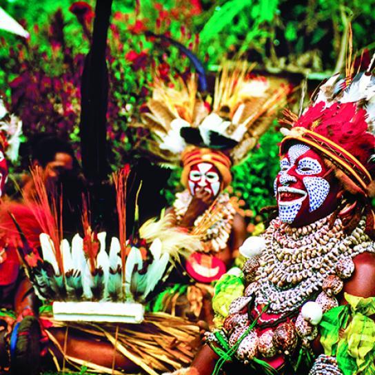 Papua New Guinea Culture: Melpa Women, Hagen Show, Western Highlands Province